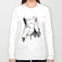 david bowie Long Sleeve T-shirts featuring DECONSTRUCTION OF DAVID BOWIE  by Dianah B
