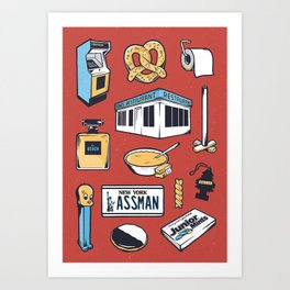 SEINFELD // Tattoo Flash Poster // George Costanza Cosmo Kramer Art Print