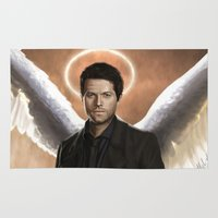 castiel Area & Throw Rugs featuring Castiel 2.0 by Mel Hampson