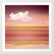 FROM DUSK TO DAWN - a golden sunset Art Print