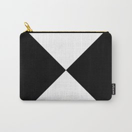 Black & White Triangles Carry-All Pouch