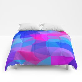 Magenta Blacklight Low Poly Comforters