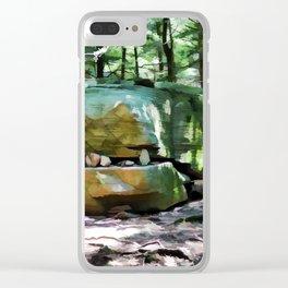 Alligator Rock 1 Clear iPhone Case