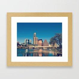 Downtown City Framed Art Print