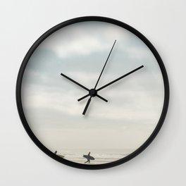 Surfers Wall Clock