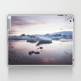 Sunset over Glacier Lagoon - Landscape and Nature Photography Laptop & iPad Skin
