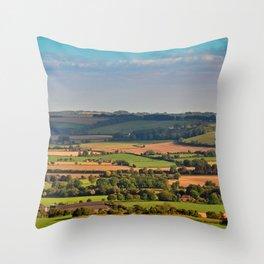 South Downs Beacon Hill Hampshire England Throw Pillow