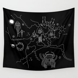 Owl Cave Map Wall Tapestry
