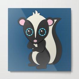 Forest Skunk Nursery Set Metal Print