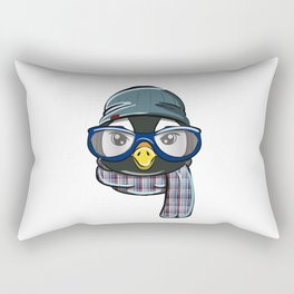 Hipster Penguin Rectangular Pillow
