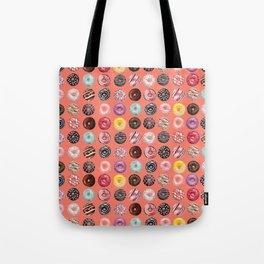 donuts coral pink Tote Bag