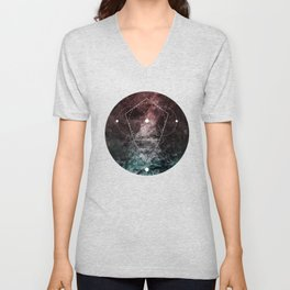 Rhombus Moon Texture Geometry Unisex V-Neck