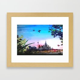 Town and country. Framed Art Print