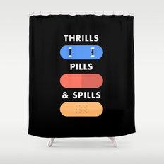 Thrills Pills & Spills Shower Curtain