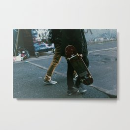 Skaters in Waterloo, London Metal Print