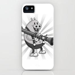 Retro Cartoon Hippo iPhone Case