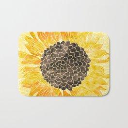 Sunflower Yellow Bath Mat
