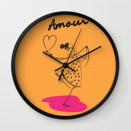 "The Ink - ""Amour"" Wall Clock"