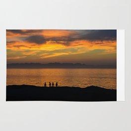 Sunrise with Penguins Rug