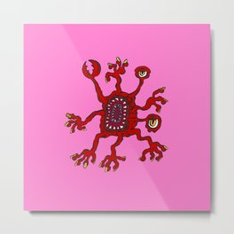 Are you ill? Check your Germs! Pinch Metal Print