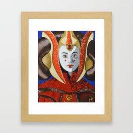 Queen Amidala Framed Art Print