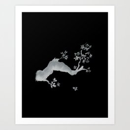 Cherry tree inverse Art Print