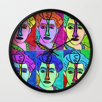 matisse Wall Clocks featuring Teal Stripe (Matisse Re-Creation) by Lachlan Willis