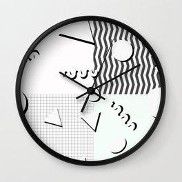Pale 80s Pattern Wall Clock