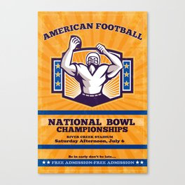 American Football National Bowl Poster Art Canvas Print