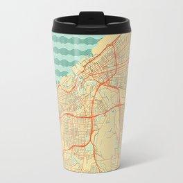 Cleveland Map Retro Travel Mug