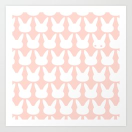 Bunny Pattern powder Art Print