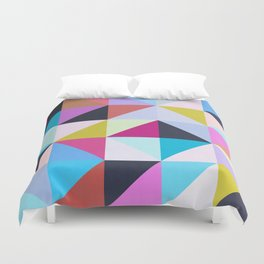 Vibrant and colorful geometry II Duvet Cover