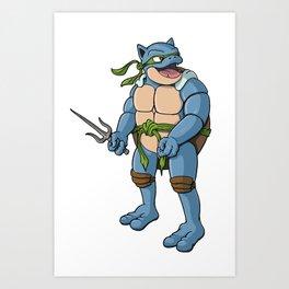 Ninja Turtle Blastoise Art Print