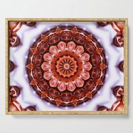 Aragonite Mandala Serving Tray