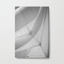 Black and white sails - sailing- nautical photography  Metal Print