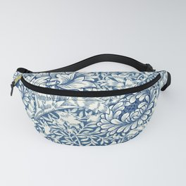 William Morris Navy Blue Botanical Pattern 8 Fanny Pack