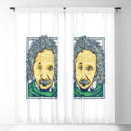 Illustration of the biggest physicist genius Albert Einstein. Blackout Curtain