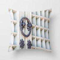 korean Throw Pillows featuring Korean Palace Doors by Jennifer Stinson