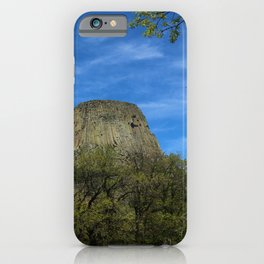 Devils Tower View iPhone Case
