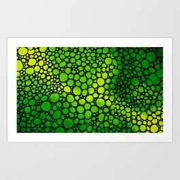Green Lights - Stone Rock'd Art By Sharon Cummings Art Print