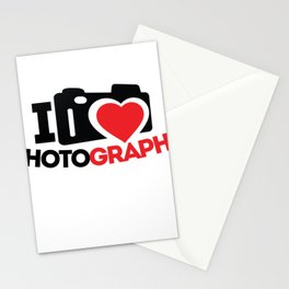 I Love Photography Gifts Photographer Photo Lover Stationery Cards