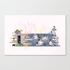 Peek-a-Boob Canvas Print
