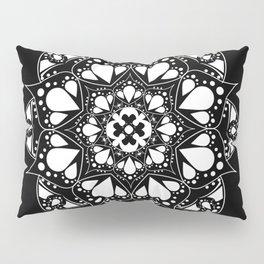 Mandala Black and White Magic Pillow Sham