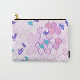 Pink Honey Comb Carry-All Pouch