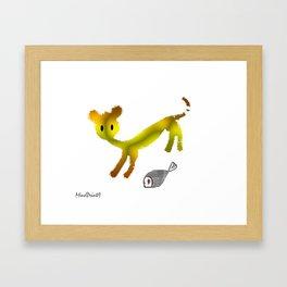 Catty Affairs Framed Art Print