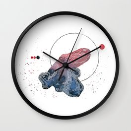 Red Octopus Wall Clock