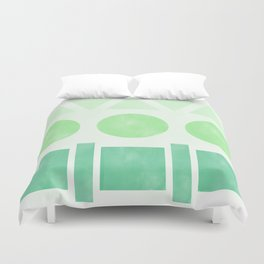 Green Shapes Duvet Cover