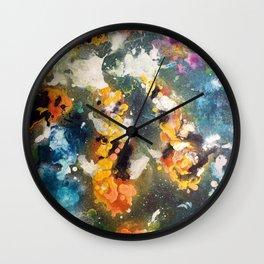 Splashing Splatter Koi Wall Clock
