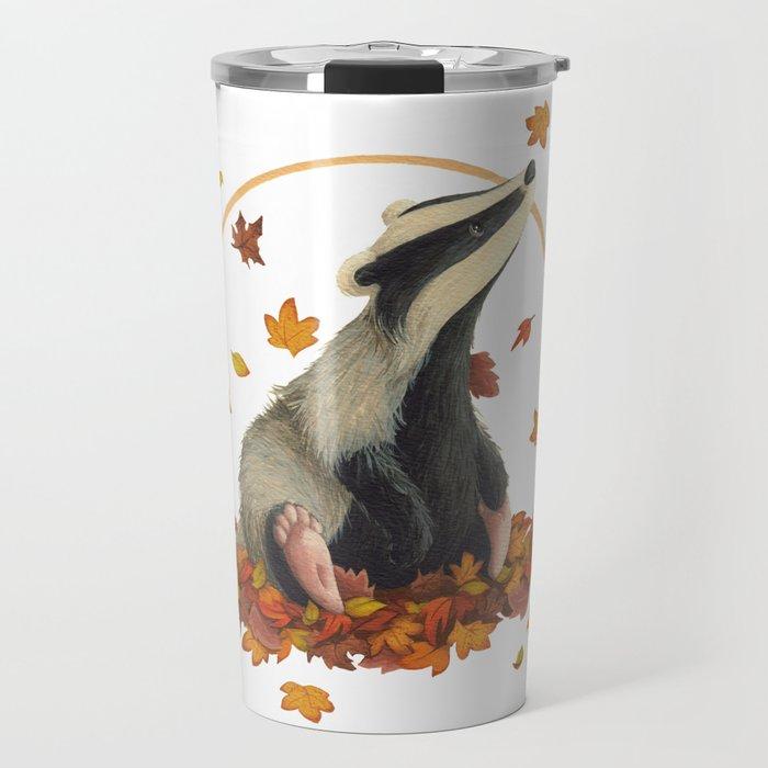 Observing Badger Travel Mug