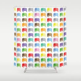 colored elephants pattern Shower Curtain